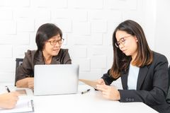Asian woman working royalty free stock images