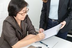 Asian woman working stock photography