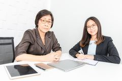 Asian woman working royalty free stock photos