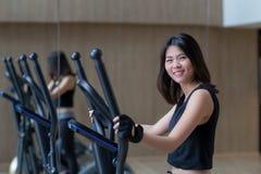 Asian woman workout stock photos