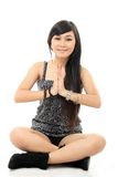 Asian woman yoga Royalty Free Stock Image
