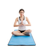 Asian woman yoga Stock Photos