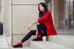 Asian woman young worker Stock Image