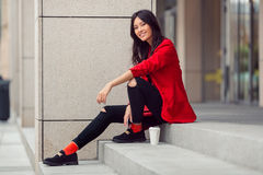 Asian woman young worker Royalty Free Stock Photo