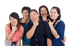 Asian women with big smiles Royalty Free Stock Photos