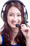 Asian women call center Royalty Free Stock Photo