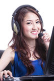 Asian women call center Stock Image