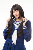 Asian women cosplay. Asian woman playing cosplay in Japanese uniform Stock Photography