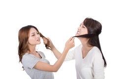 Asian women fight Royalty Free Stock Images