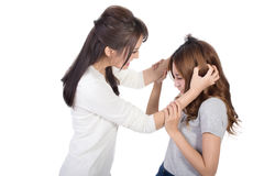 Asian women fight Stock Photography
