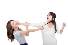 Asian women fight Stock Photos