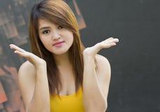 Asian women are happy. Stock Photos