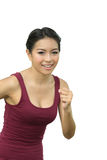 Asian women are jogging Stock Photo