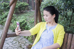 Asian women in nature. Stock Photography