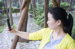 Asian women in nature. Stock Images