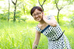 Asian women outdoor portrait Royalty Free Stock Photos