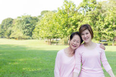 Asian women in the park Stock Images