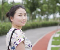 Asian women in a park Royalty Free Stock Images