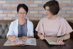 Asian women in the restaurant Royalty Free Stock Photo