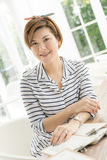 Asian women in the restaurant Stock Photography