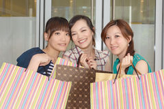 Asian women shopping Royalty Free Stock Image