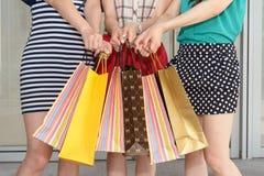 Asian women shopping Stock Photos