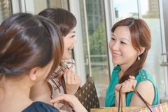 Asian women shopping Royalty Free Stock Images