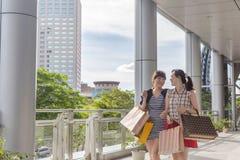 Asian women shopping Stock Photo