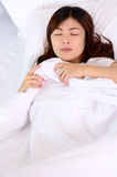 Asian women sleeping and relaxation Stock Images