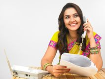Asian women speaking in the phone Royalty Free Stock Photo