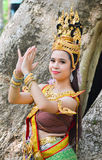 Asian women in traditional costume. Asian woman in traditional costume of thailand Royalty Free Stock Photos