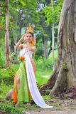 Asian women in traditional costume. Asian woman in traditional costume of thailand Royalty Free Stock Photography
