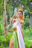 Asian women in traditional costume. Asian woman in traditional costume of thailand Stock Photo