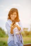 Asian women use smart phone Royalty Free Stock Photo