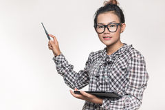 Asian women who are confident to offer good Stock Image