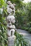 Asian wooden art pole. Wooden art pole in Themepark  Zoomland in Gelsenkirchen Stock Photography