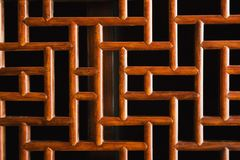 Asian wooden design. Stock Photo