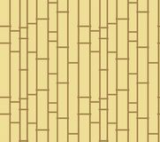 Asian wooden fence or curtain, suitable for booklet decoration,. Vector pattern. Bamboo stylized abstract background. Yellow and brown poles texture, vertically Royalty Free Stock Photo