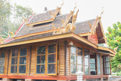 Asian wooden house Royalty Free Stock Photo