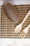 Asian Wooden utensils for background Royalty Free Stock Images