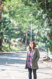 Asian work woman with casual wear at outdoor Stock Image