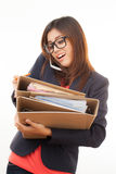 Asian working woman Stock Image
