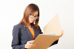 Asian working woman Royalty Free Stock Photos