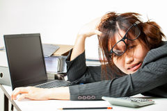Asian working woman Royalty Free Stock Image