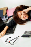 Asian working woman Stock Photography