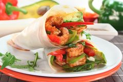 Asian Wrap Stock Photo