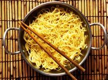 Asian yellow noodles Stock Photo