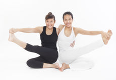 Asian Yoga Training Master Royalty Free Stock Photos