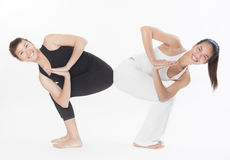 Asian Yoga Training Master Royalty Free Stock Photography