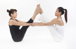Asian Yoga Training Master Stock Photos